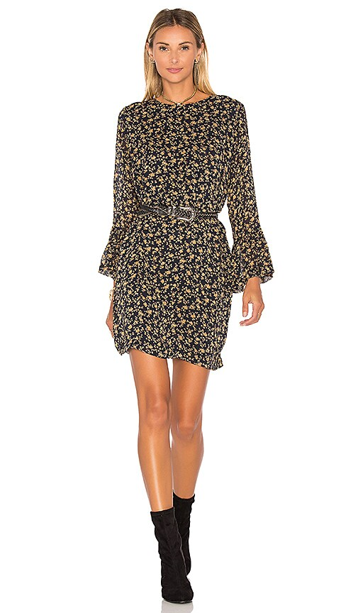 Ganni Bartlett Georgette Mini Dress in Navy