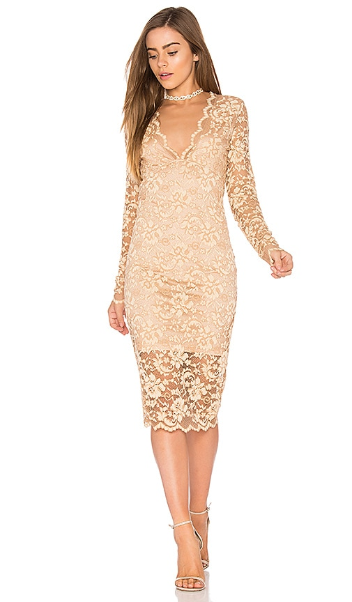 f0cd15f9 Ganni Flynn Lace Dress in Cuban Sand | REVOLVE