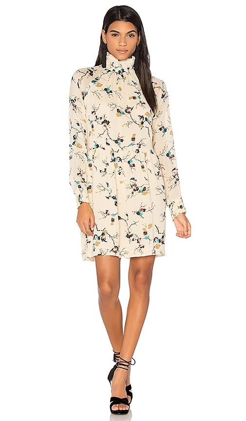 93619adf Ganni Marietta Georgette Dress in Biscotti Leaves | REVOLVE