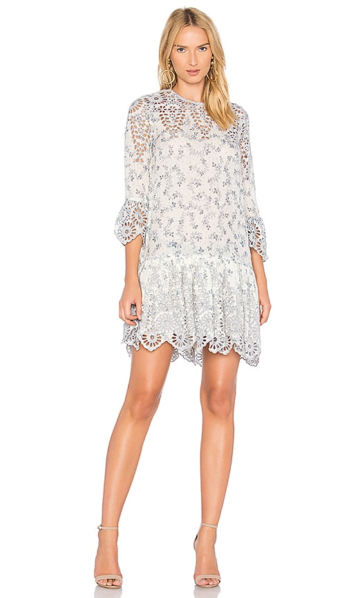 ganni lace dress