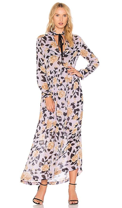 Ganni Carlton Maxi Dress in Lavender