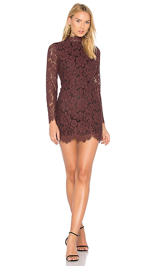 Ganni Jerome Lace Dress in Purple
