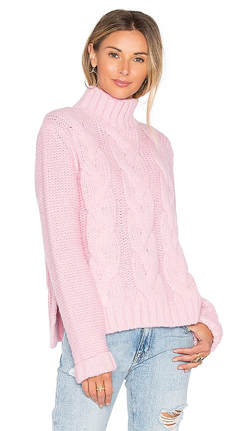 Ganni Brooks Turtleneck Sweater in Pink