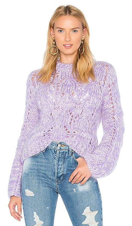 Ganni The Julliard Mohair Sweater in Purple