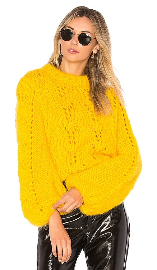 Ganni Julliard Mohair Sweater in Yellow