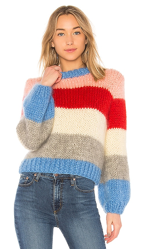 599ae4fbef Ganni The Julliard Mohair Sweater in Block Color