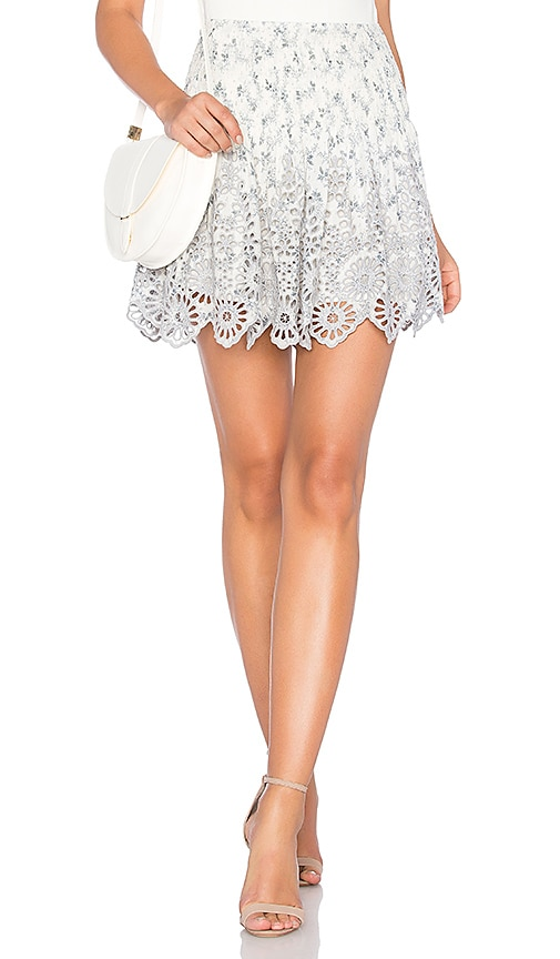 Ganni Emile Lace Skirt in Ivory