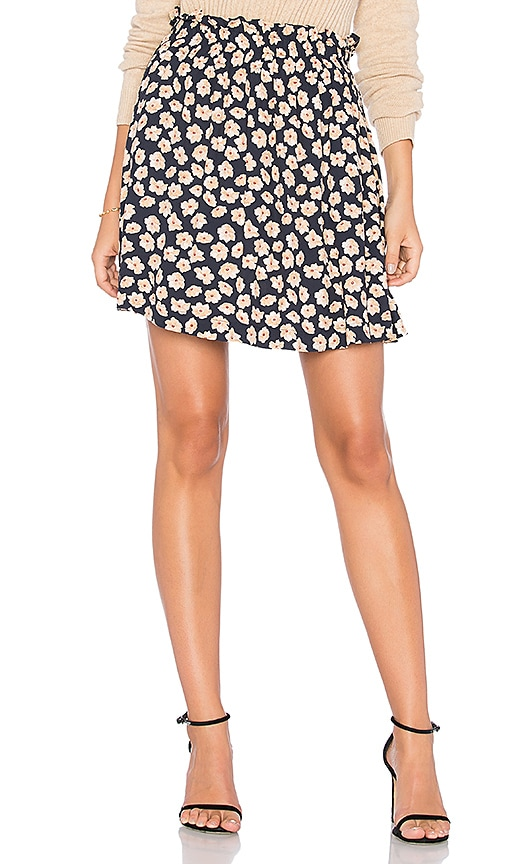 Ganni Montrose Mini Skirt in Navy