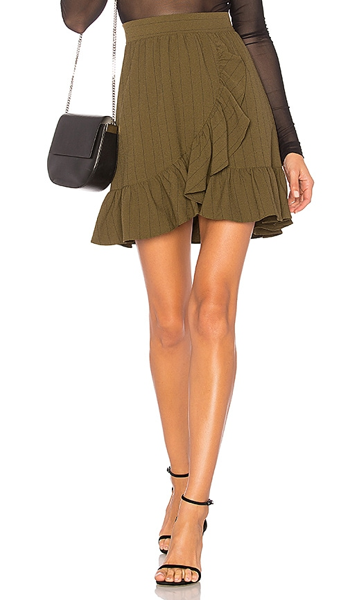 Ganni Clark Skirt in Army