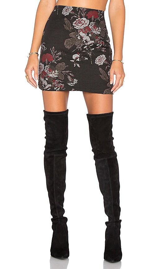 Ganni O'Donnell Brocade Skirt in Black