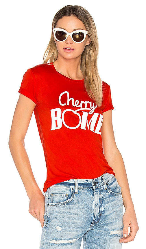 Ganni Linfield Cherry T-Shirt in Red