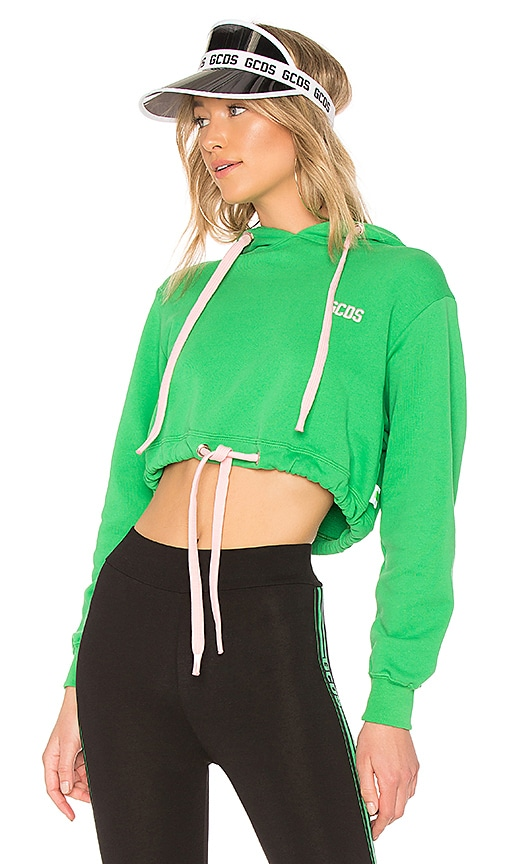 GCDS Corset Corp Hoodie in Green