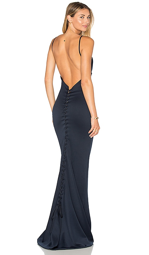Gemeli Power Carmesi Gown in Navy