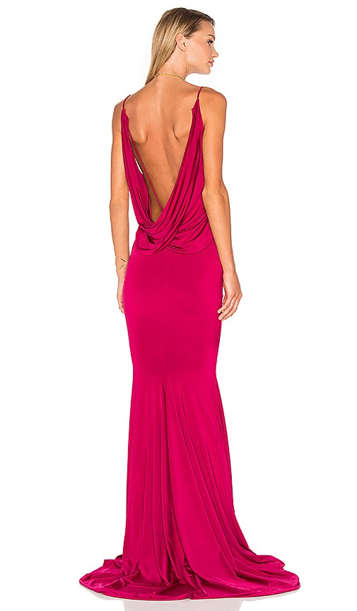 Gemeli Power Evgeni Gown in Fuchsia
