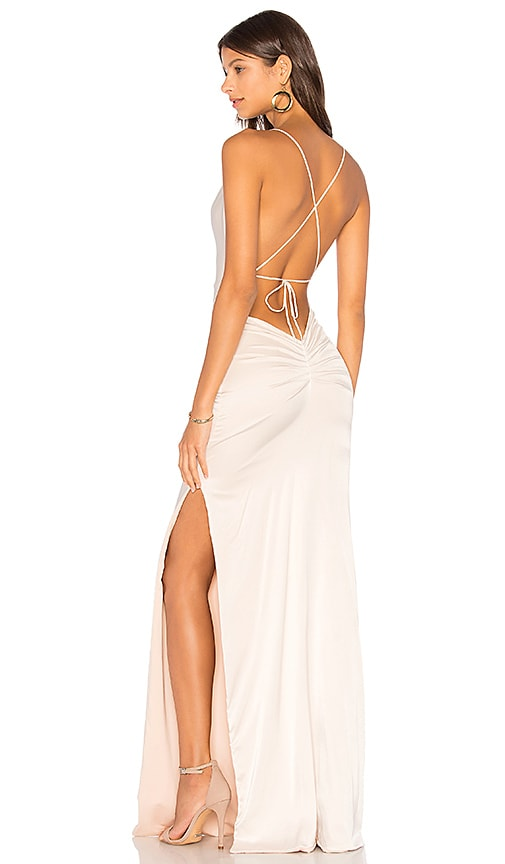 Gemeli Power Silk D Dupey Gown in Ivory