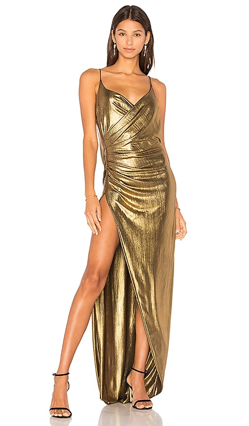 GEMELI POWER Kotahi Gown in Metallic Gold