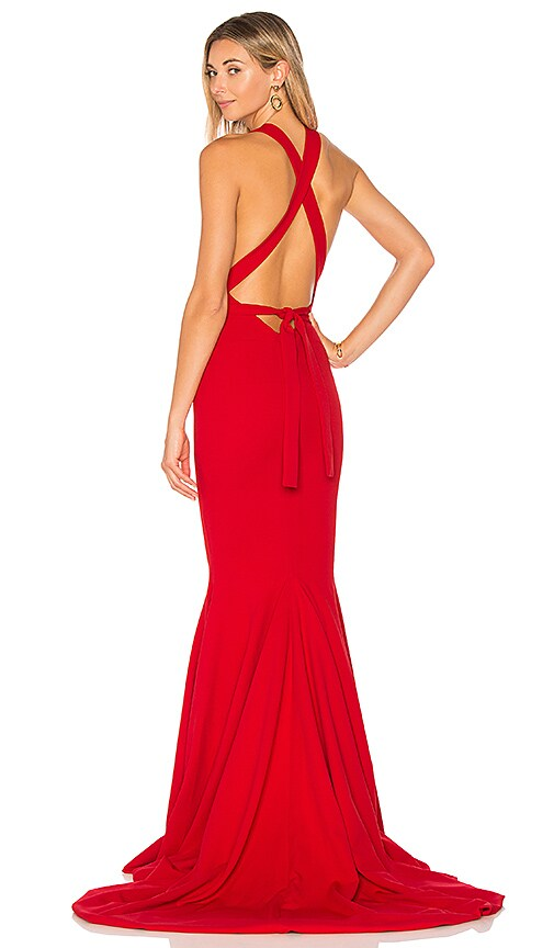 GEMELI POWER Las Lasciiv Gown in Red