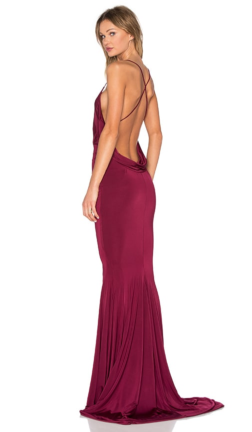 Gemeli Power Barthelemy Dress in Burgundy