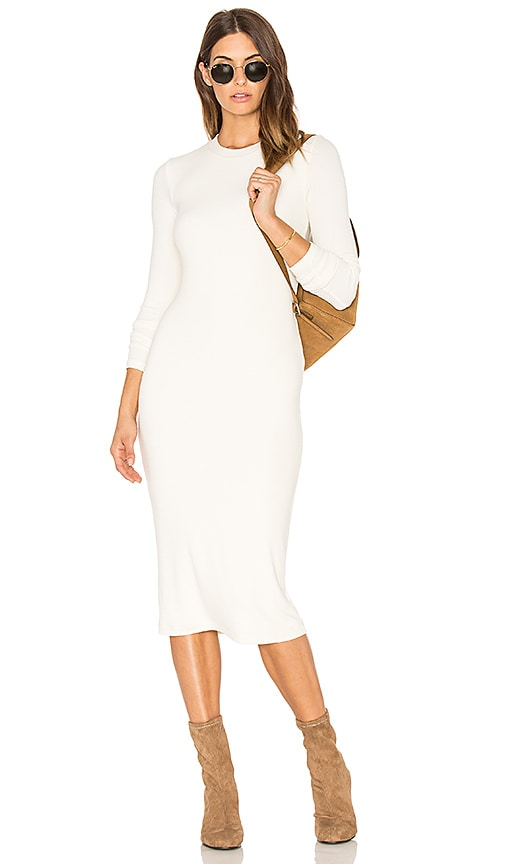 GETTINGBACKTOSQUAREONE The Sweater Dress in Ivory