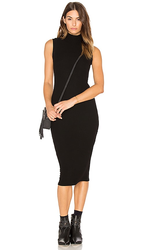 GETTINGBACKTOSQUAREONE The Sleeveless Turtleneck Dress in Black