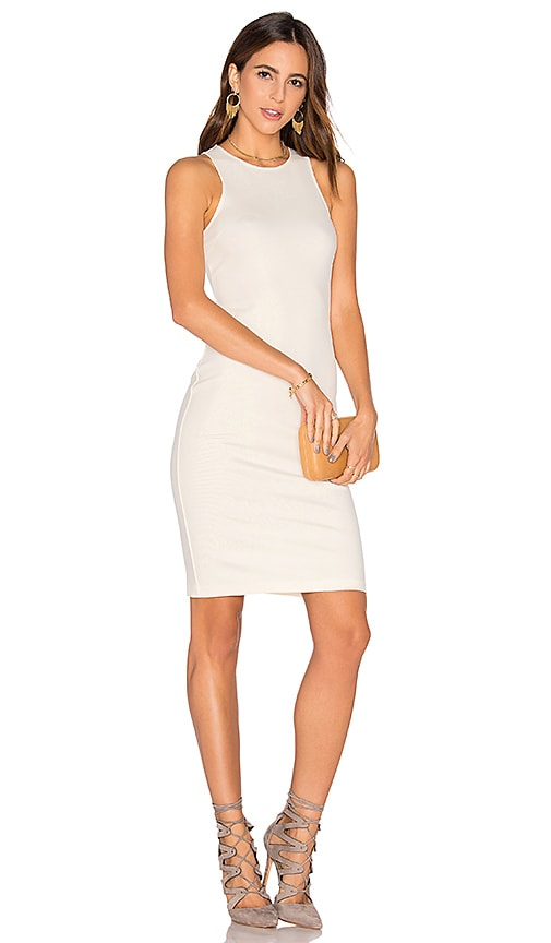 GETTINGBACKTOSQUAREONE The Racerback Dress in Ivory