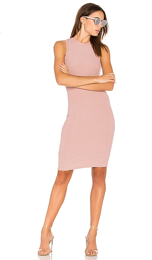 GETTINGBACKTOSQUAREONE Sleeveless Sweater Dress in Mauve