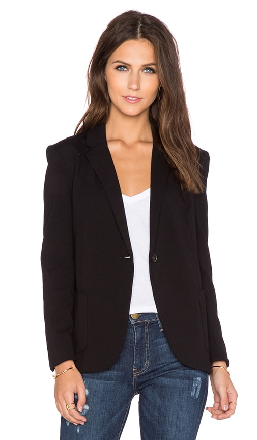 GETTINGBACKTOSQUAREONE Blazer in Black
