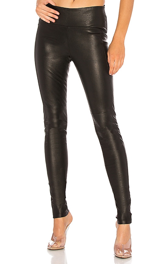 GETTINGBACKTOSQUAREONE Iconic Leather Legging in Black