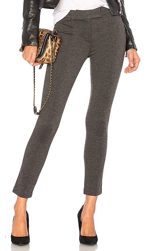GETTINGBACKTOSQUAREONE Pin Tuck Pant in Gray
