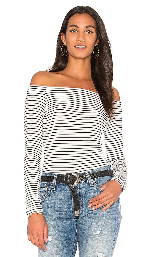 GETTINGBACKTOSQUAREONE Off the Shoulder Long Sleeve Top in White