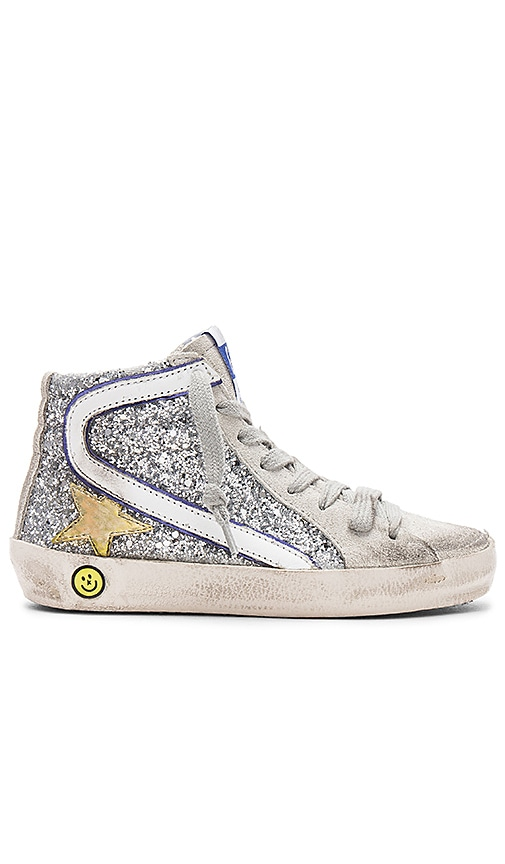 Golden Goose Slide Sneaker in Metallic Silver