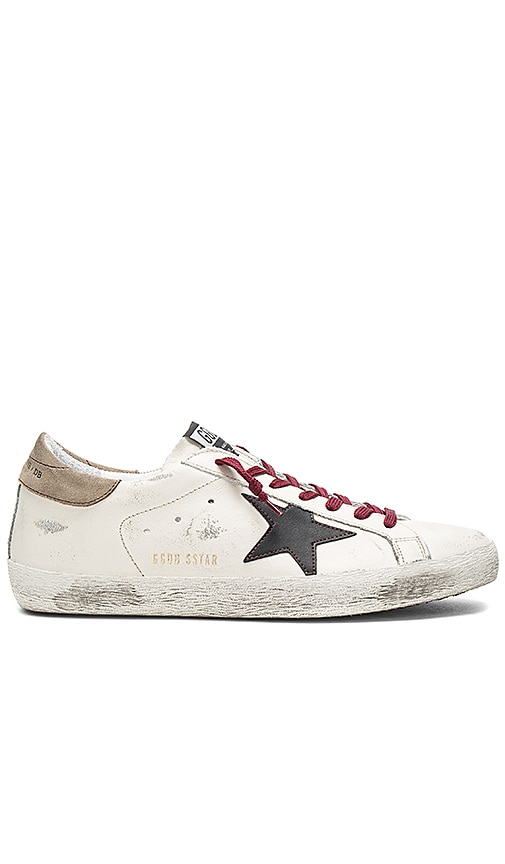 Golden Goose Superstar Sneakers in Cream