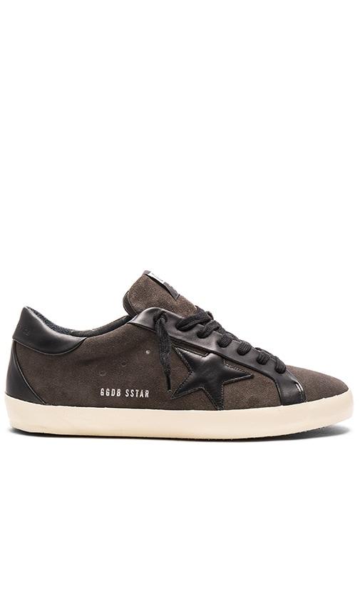 Golden Goose Superstar Bespoke Sneakers in Ashpalt & Black Star