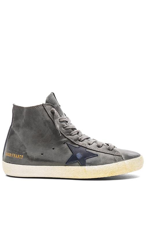 Golden Goose Francy Sneakers in Dark Grey Nabuk & Navy Star