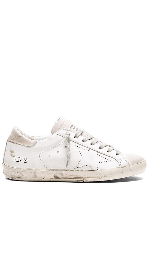 Golden Goose Superstar Sneakers in White Skate