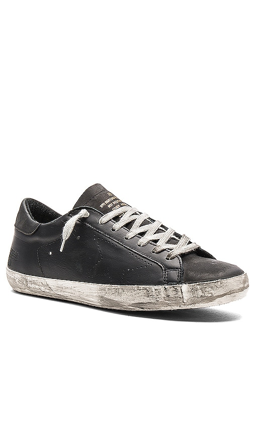 Golden Goose Superstar Sneakers in Black
