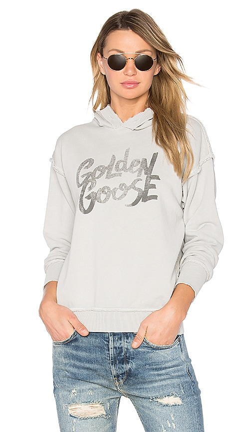 Golden Goose Marina Hoodie in Light Gray