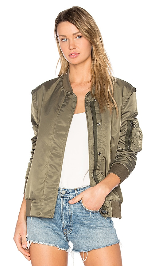 Golden Goose Sunset Bomber Jacket in Army