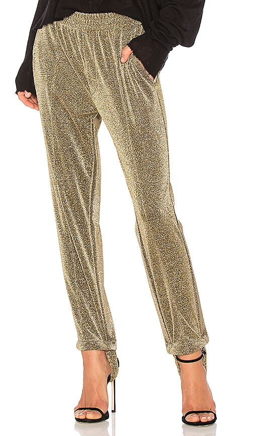 Golden Goose Dele Pant in Metallic Gold