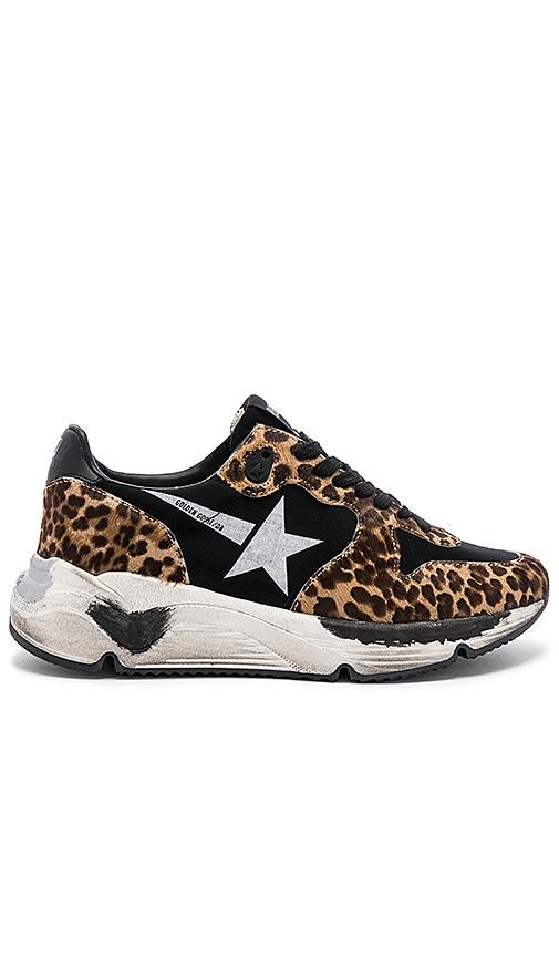 Golden Goose Running Sole Sneaker in Leopard   White Star  06136eb5bbac