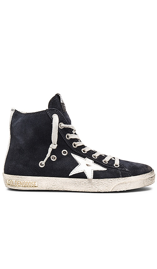 Golden Goose Francy Sneaker in Navy Suede