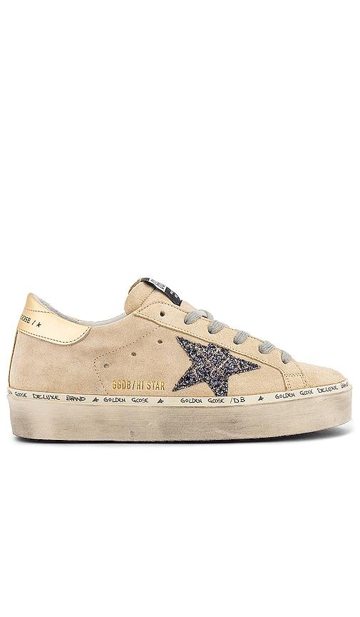 Golden Goose Hi Star Sneaker in Pearl