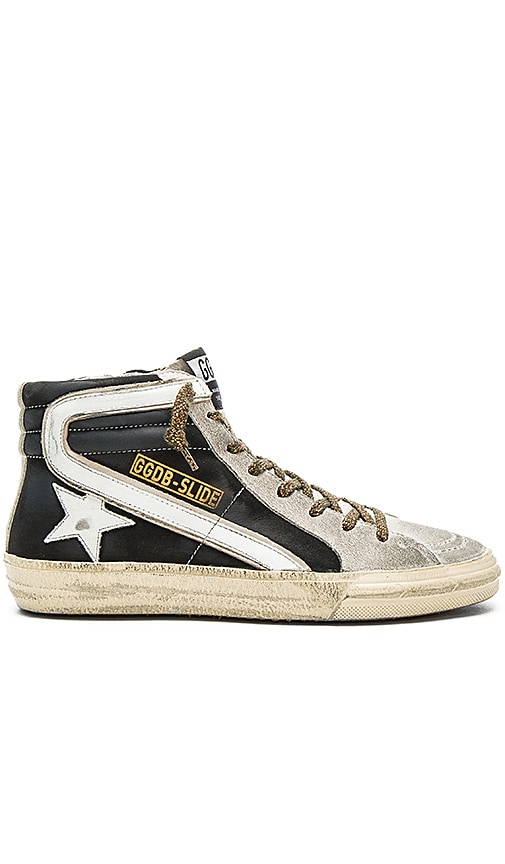 Golden Goose Slide Hi Top Sneaker in Black