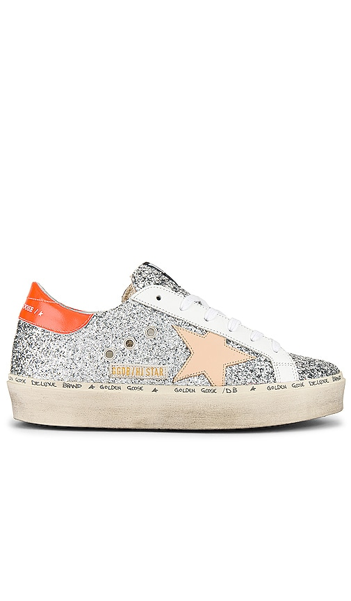 Golden Goose Hi Star Sneaker in Silver