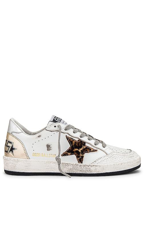 Golden Goose Ballstar Sneaker in White.