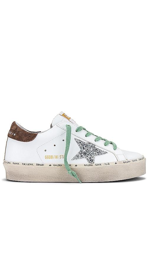 Golden Goose Hi Star Sneaker in White.