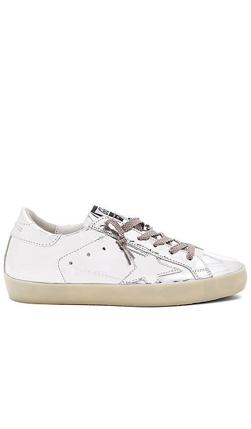 Golden Goose Superstar Sneaker in Metallic Silver
