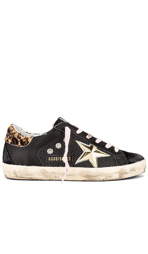 Golden Goose Superstar Sneaker in Black.