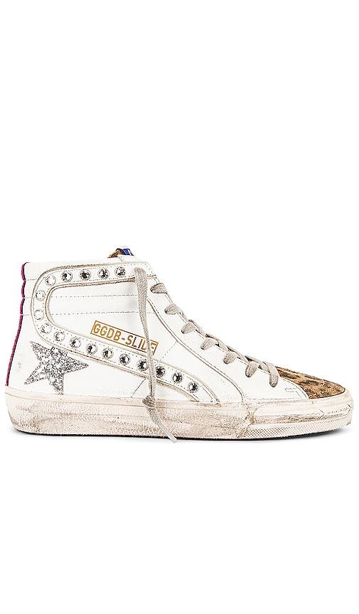 Golden Goose Slide Sneaker in White.