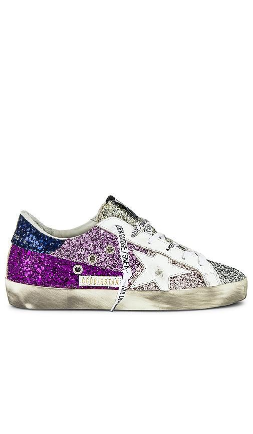 Golden Goose Superstar Sneaker in Purple.